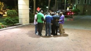 prayer circle afterwards