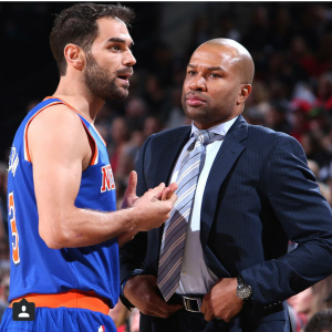 Derek Fisher, coach for the NY Knicks.
