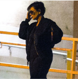 Lamar's estranged Mother-in-Law, Kris Jenner outside of Sunrise Hospital.