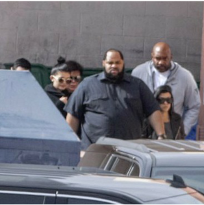 Kylie Jenner, Kourtney Kardashian, and Kris Jenner arriving at Sunrise Hospital.