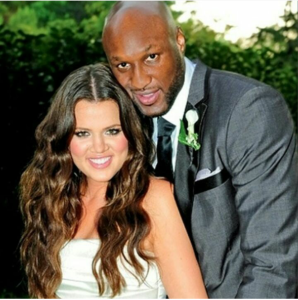Lamar Odom and his estranged wife, Khloe Kardashian on their wedding day in 2009.