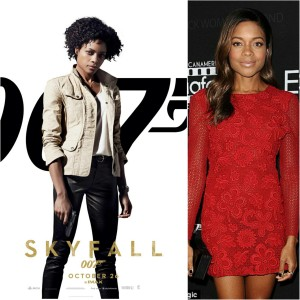 "(LEFT) Naomie Harris in 2012's ""Skyfall"" as ""Eve Moneypenny"". (LEFT) The 39 year old Harris at last night's event."