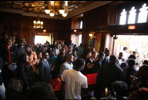 Inside Tyshawn's funeral.