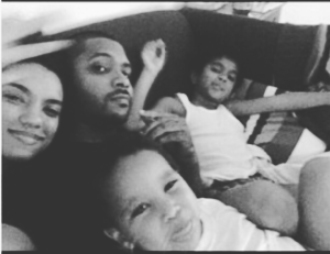 Picture of Ryan and Rachel with Mason (Ryan's son) and Canyon (Jeremih's son), posted to Ryan's Instagram page.