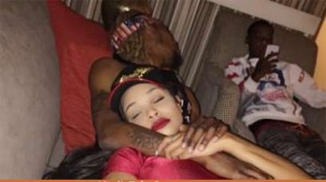 Fetty laying with Masika Kalysha