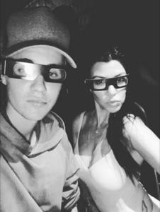 Justin Bieber and Kourtney Kardashian.
