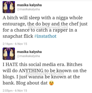"Masika takes a shot at Fetty's ""Atlanta Bae"", Alexis Sky."