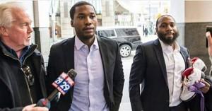 Meek Mill headed into court last week before being sentenced today.