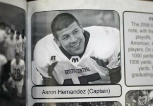 Aaron Hernandez was the star of the Bristol Central High School football team in Connecticut.