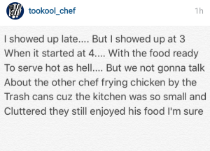 Chef Kool blasts other chef