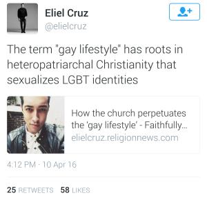 Eliel Cruz Tweet Laporsha