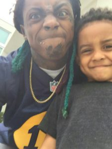 Lauren London son Cameron Carter with Lil Wayne