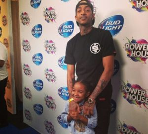 Nipsey Hussle and daughter Emani