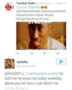 Nipsey Hussle baby mama Tanisha tweet