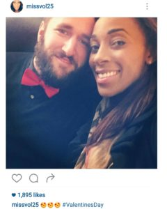 Glory Johnson shows off her new beau, Christopher Fry.