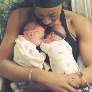 Glory Johnson's twins, Ava Simone and Solei Diem, were born prematurely in October 2015.