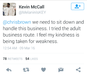 Kevin McCall March tweet