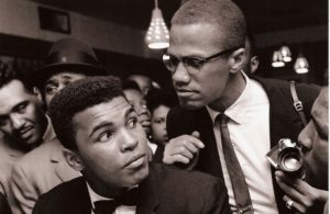 Muhammad Ali and Malcolm X after Ali converted to Islam in 1964.