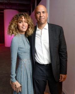28 year old artist, public speaker and Instagram poet Cleo Wade and 47 year old New Jersey Senator Cory Booker.